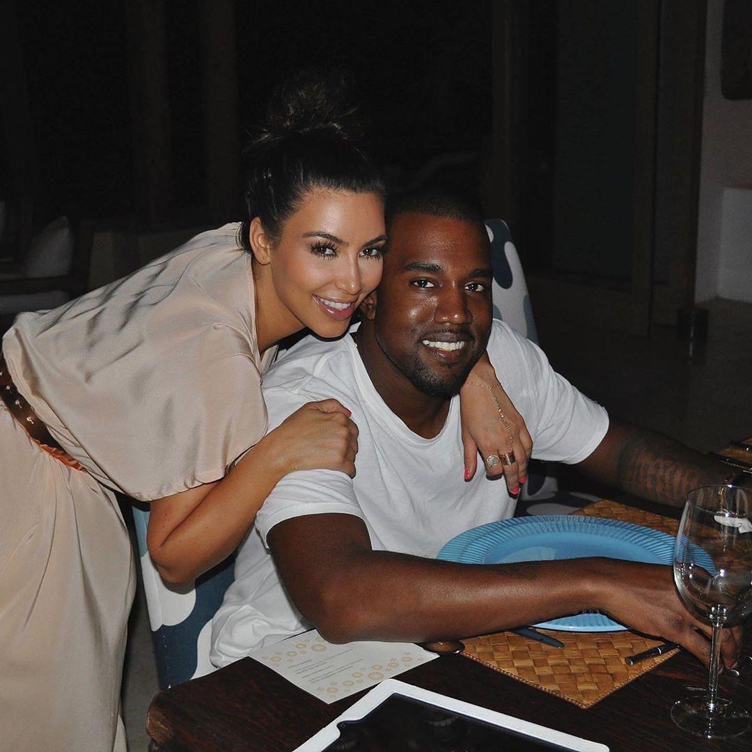 Канье Уэст и Ким Кардашьян фото