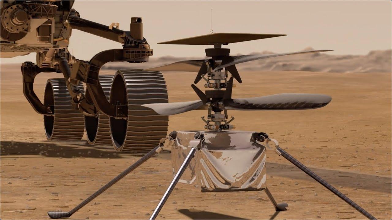 Историческое событие: NASA впервые запустили дрон на марсе (ВИДЕО) - фото №1