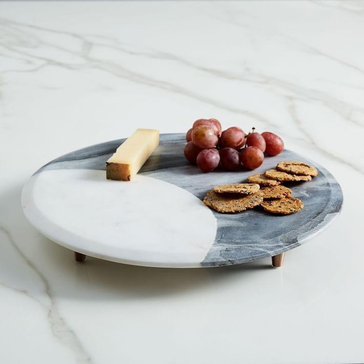 Мраморная доска для сыра и закусок