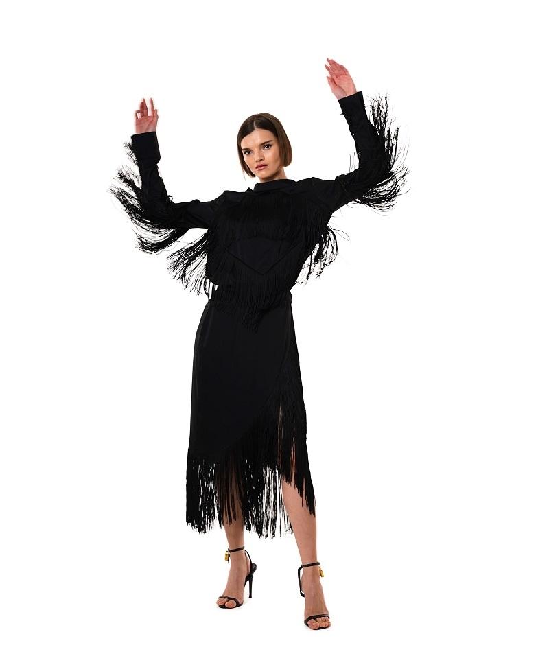 Шелковые платья и бахрома в новой коллекции GASANOVA (ФОТО) - фото №4