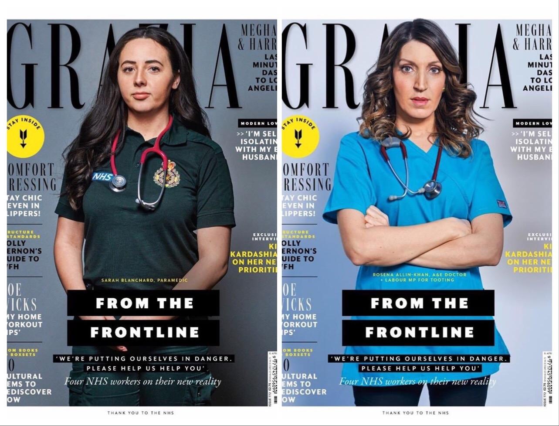 Вместо моделей — врачи: на обложке глянца Grazia женщины, которые сражаются с COVID-19 (ФОТО) - фото №1