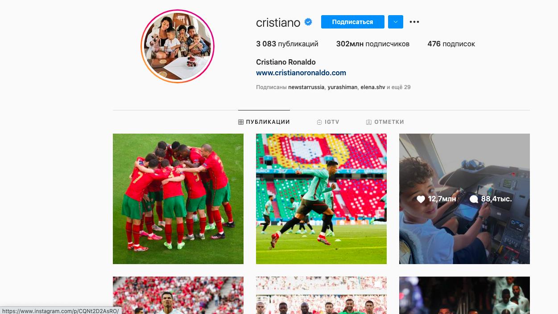 Криштиану Роналду стал рекордсменом по числу подписчиков в Instagram - фото №1