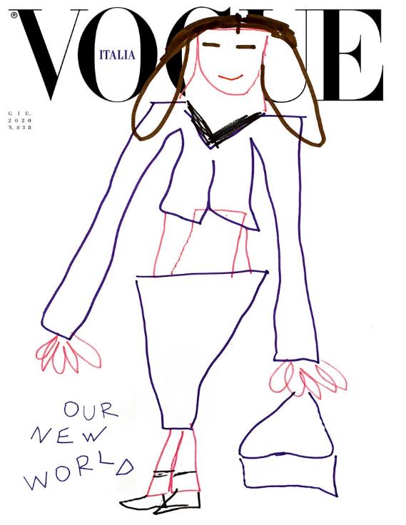 Обложка дня: итальянский Vogue поместил на обложку детские рисунки (ФОТО) - фото №3