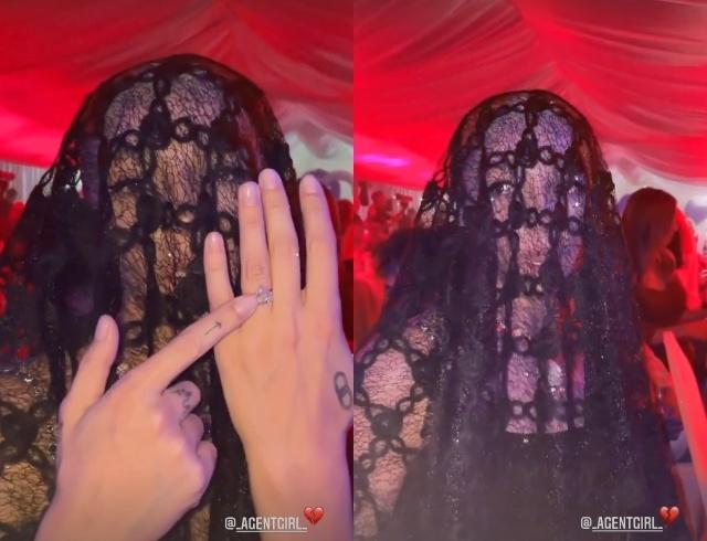 Черная вдова: Настя Ивлеева появилась на свадьбе Моргенштерна и Дилары в траурном образе (ФОТО) - фото №1