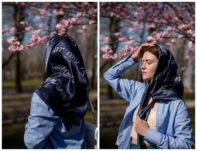 Украшаемся поэзией: Oliz выпустили коллекцию платков в честь Лины Костенко - фото №1