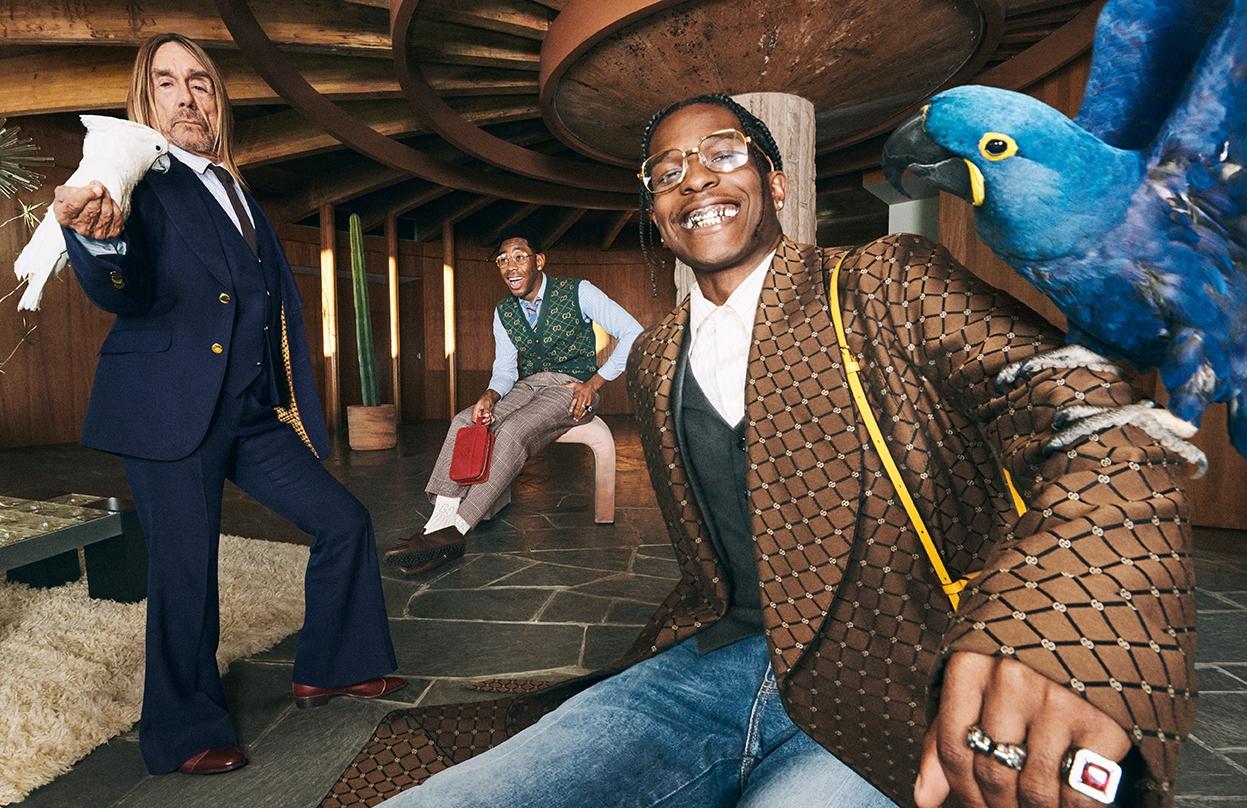 Мужская элегантность: Игги Поп, A$AP Rocky и Tyler, The Creator снялись в рекламной кампании Gucci (ФОТО+ВИДЕО) - фото №4
