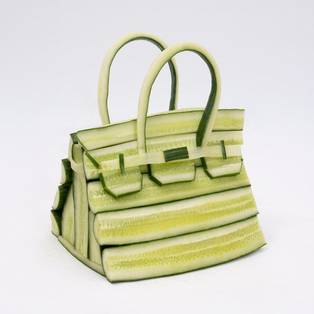 Hermès показали коллекцию съедобных сумок Birkin из овощей (ФОТО) - фото №2