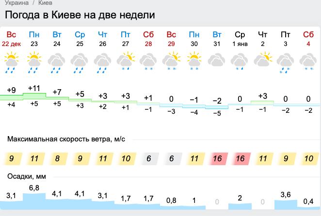 Погода на Новый год 31 декабря и 1 января в Киеве, Одессе, Львове, Карпатах и Харькове