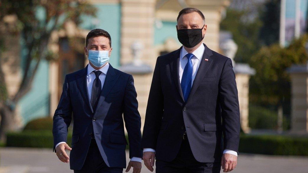 Президент Польши Анджей Дуда и Владимир Зеленский