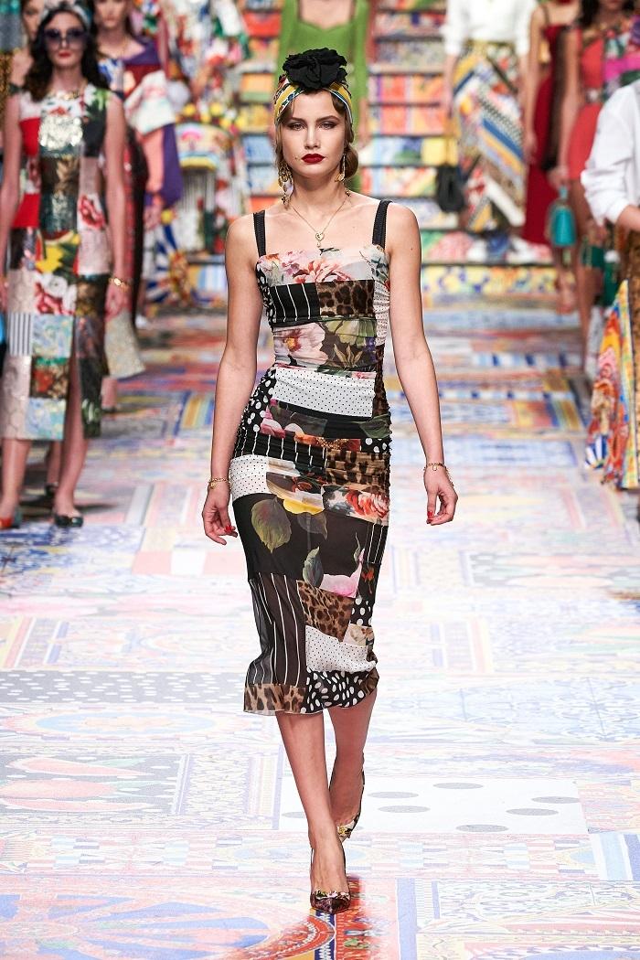 Неделя моды в Милане: Dolce & Gabbana выпустили коллекцию из остатков ткани (ФОТО) - фото №4