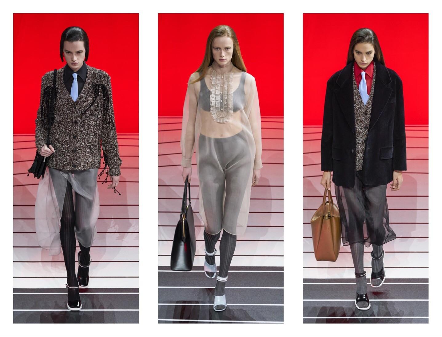 Prada —новая коллекция: строгий гламур и угловатая женственность (ФОТО) - фото №3