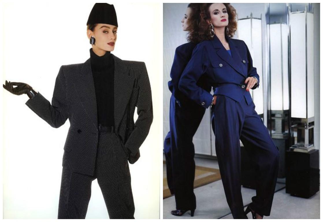 80-е годы мода, винтажные наряды