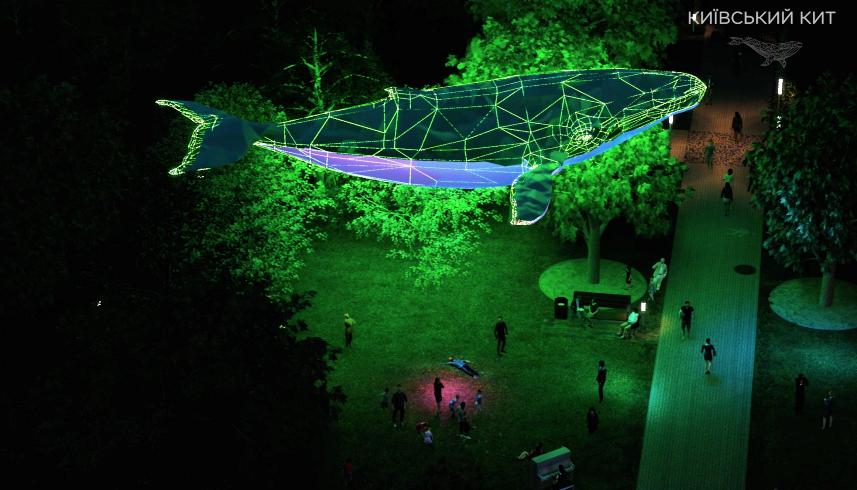Киевский Кит: в столице появится 12-метровая медиа-скульптура из переработанного пластика - фото №1