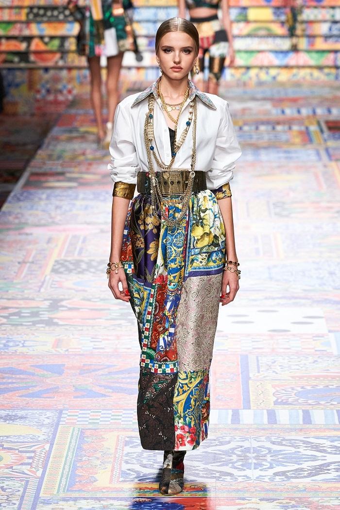 Неделя моды в Милане: Dolce & Gabbana выпустили коллекцию из остатков ткани (ФОТО) - фото №9