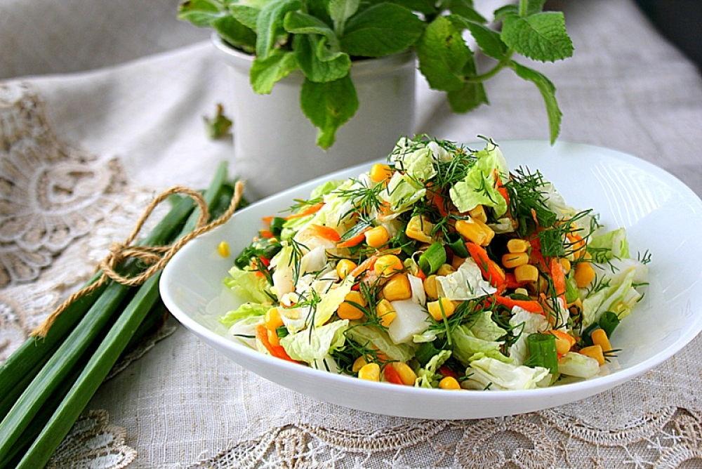 легкие весенние салаты
