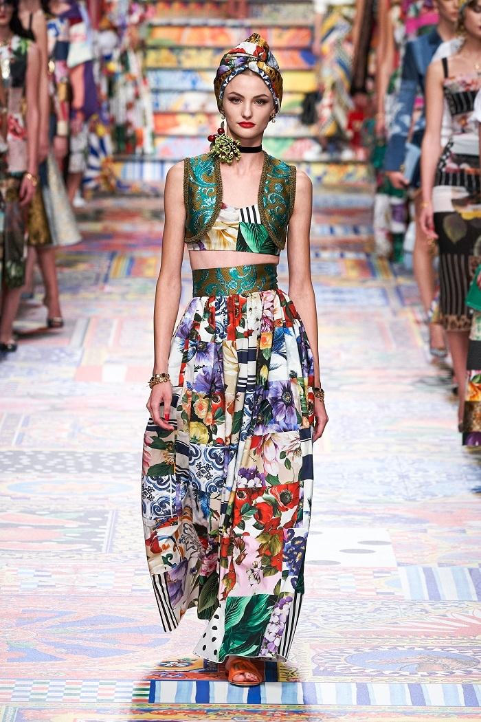 Неделя моды в Милане: Dolce & Gabbana выпустили коллекцию из остатков ткани (ФОТО) - фото №8