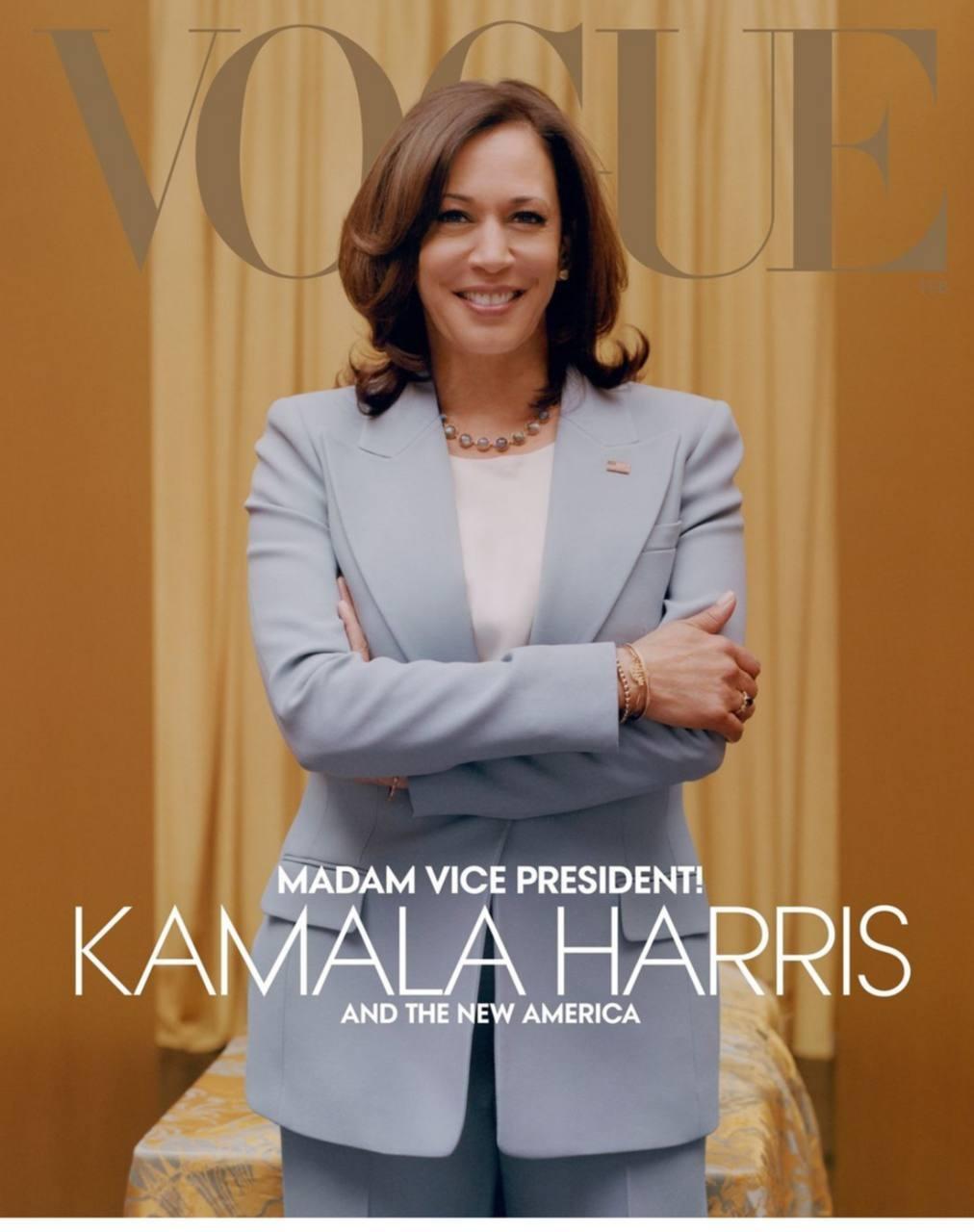 Камала Харрис украсила новую обложку американского Vogue (ФОТО) - фото №1