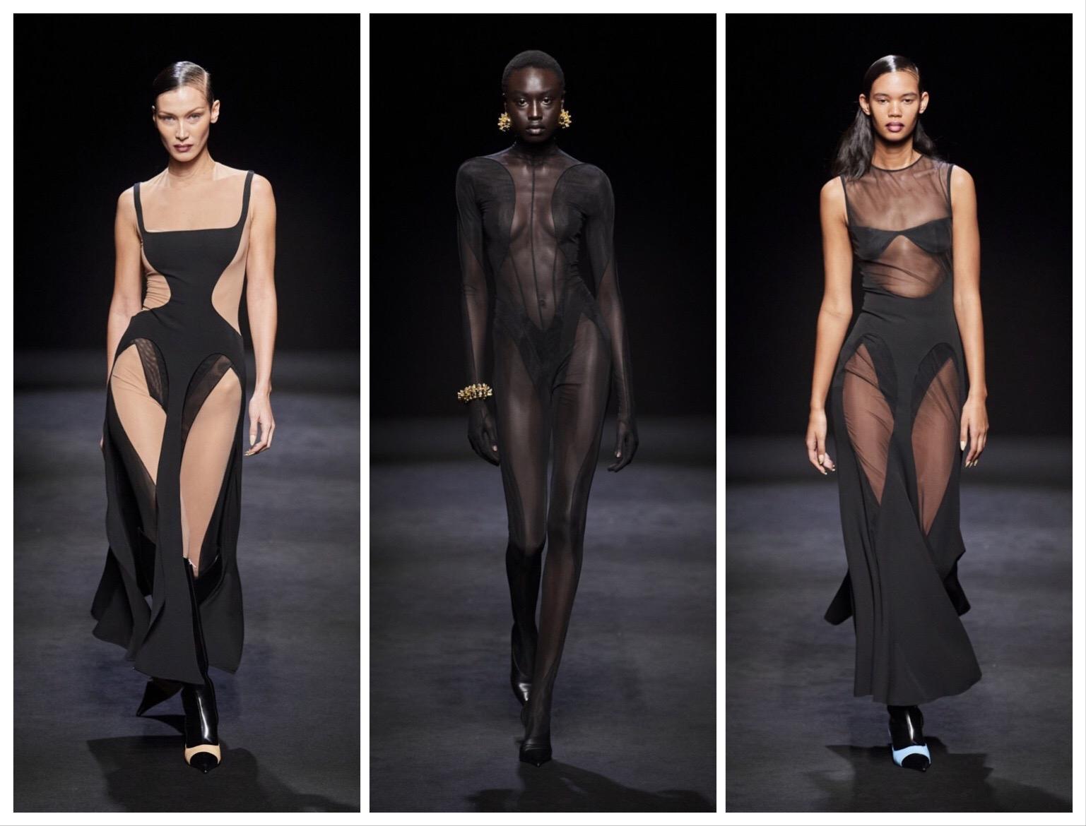 """""""Голые платья"""", сетка и цветная кожа – обзор новой коллекции Mugler - фото №3"""