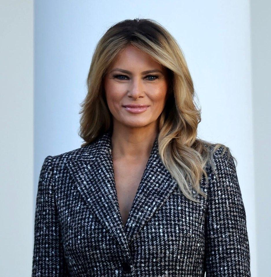 Радостная Мелания Трамп показала стильный образ и новый оттенок волос на церемонии помилования индейки (ФОТО) - фото №4