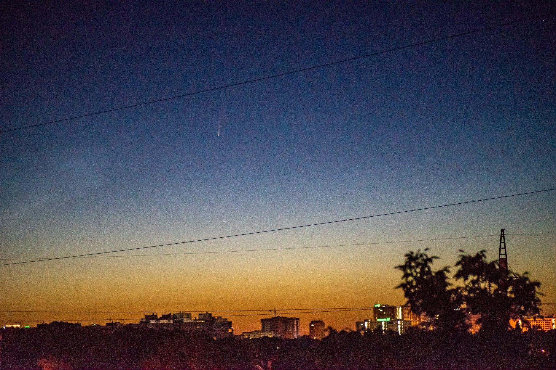 Комета Neowise фото