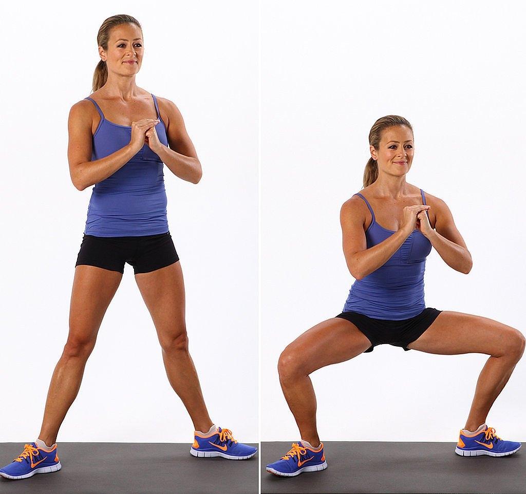 Упражнение 3: плие-пружина и бег на месте