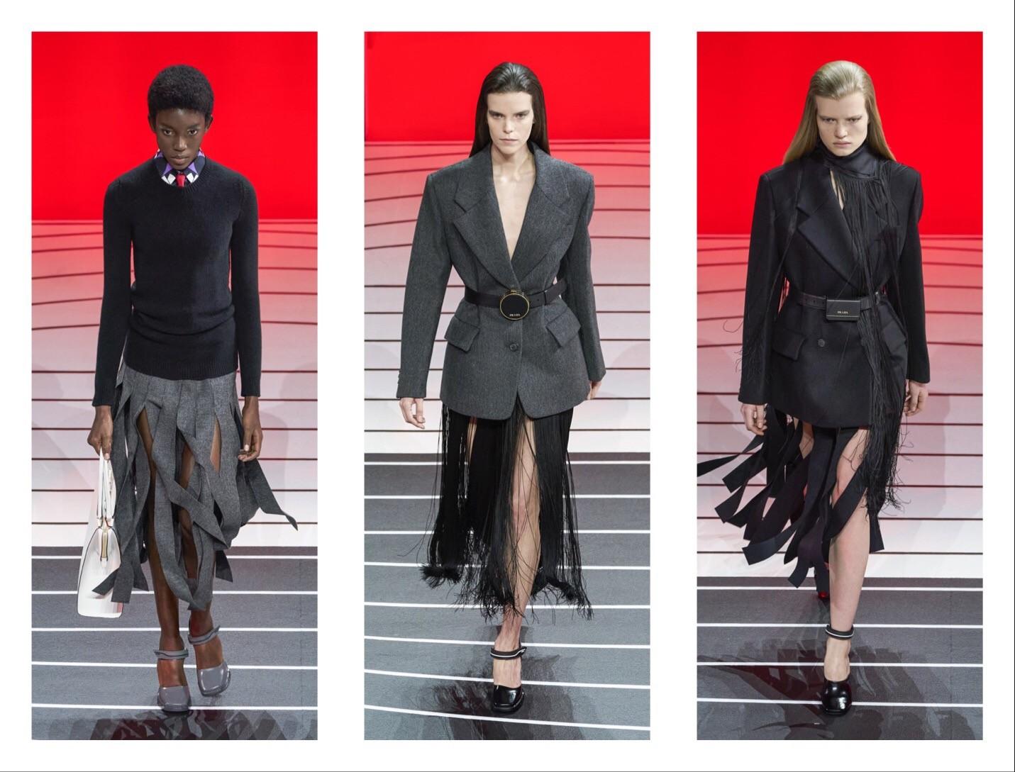 Prada —новая коллекция: строгий гламур и угловатая женственность (ФОТО) - фото №1