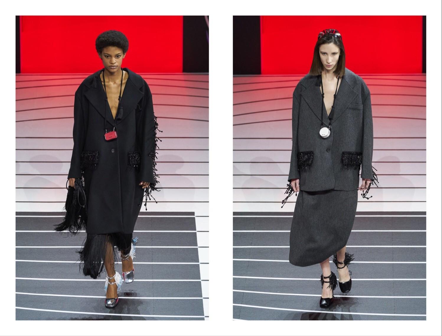 Prada —новая коллекция: строгий гламур и угловатая женственность (ФОТО) - фото №5