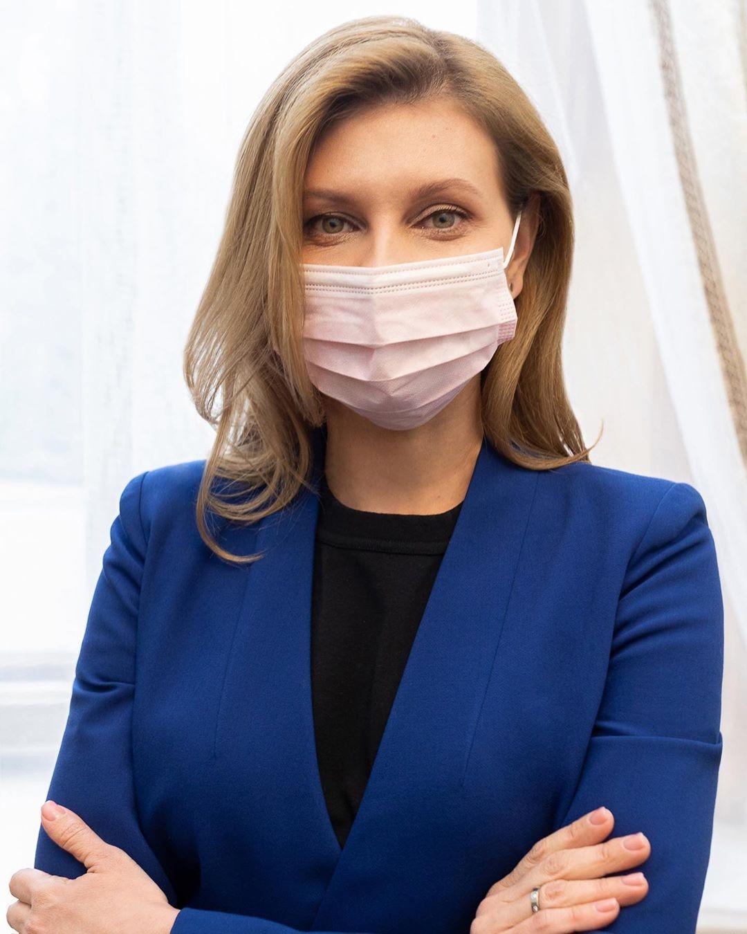 Елена Зеленская в маске фото 2020