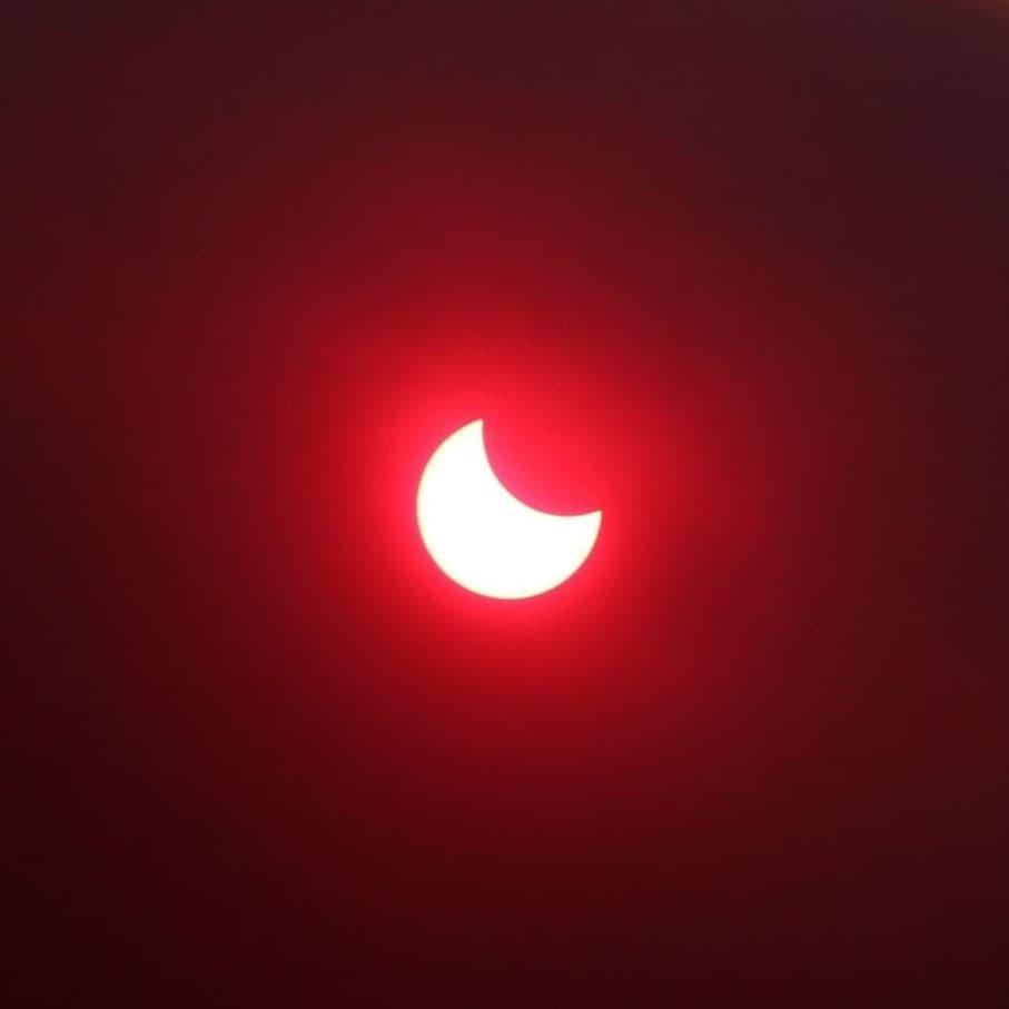 Солнечное затмение 10 июня: весь мир делится эффектными снимками астрономического явления (ФОТО) - фото №7