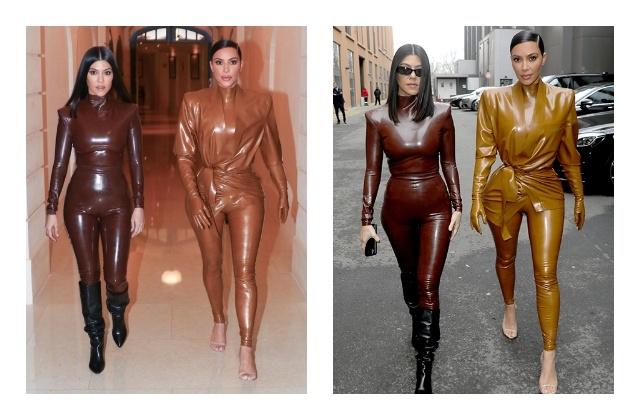 И в церковь, и на неделю моды —Ким Кардашьян в костюмах из латекса - фото №2