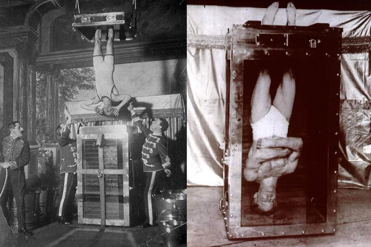 Гарри Гудини фокус камера с водой