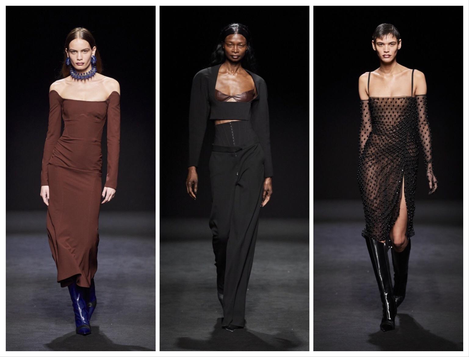 """""""Голые платья"""", сетка и цветная кожа – обзор новой коллекции Mugler - фото №4"""
