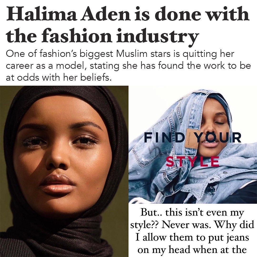 Мусульманская модель Халима Аден завершает карьеру из-за религиозных убеждений - фото №1