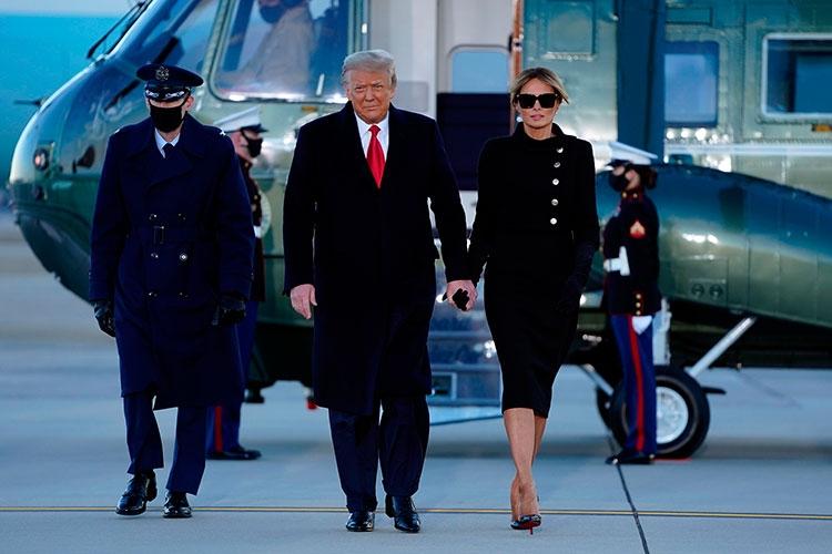 Траурный total black: последний выход Мелании Трамп в статусе первой леди США (ФОТО) - фото №2