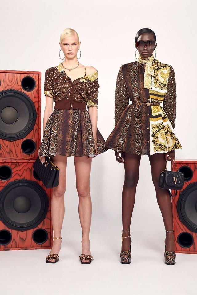 Брюки с низкой посадкой и змеиный принт: Versace представили новую круизную коллекцию (ФОТО) - фото №5