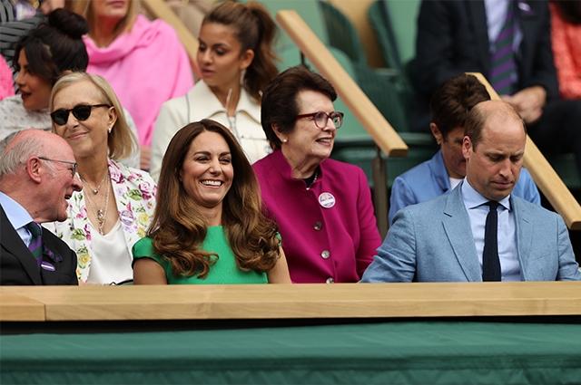 Кейт Миддлтон и принц Уильям побывали на финале Уимблдонского турнира - фото №2