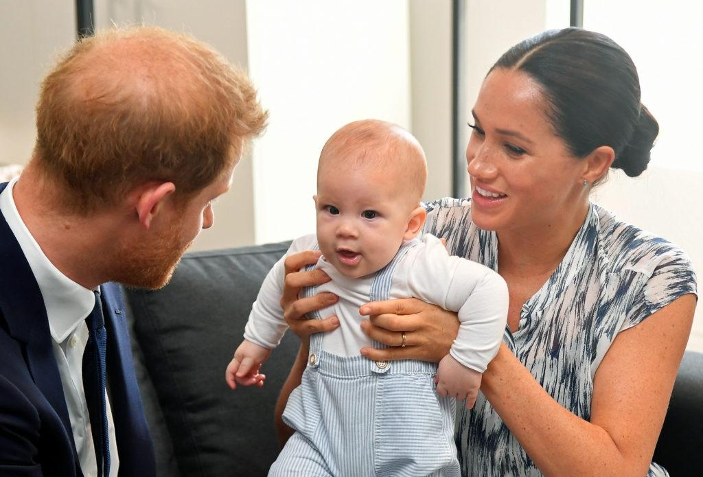Меган Маркл принц Гарри и их сын Арчи