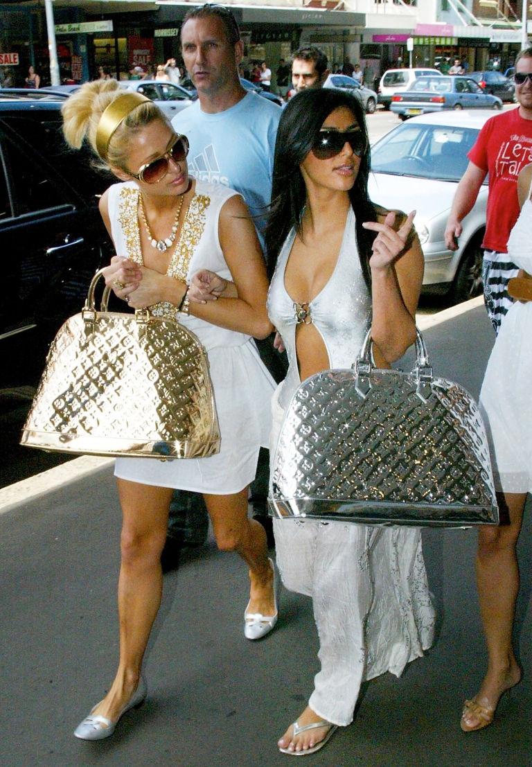 Ким Кардашьян и Пэрис Хилтон сумки