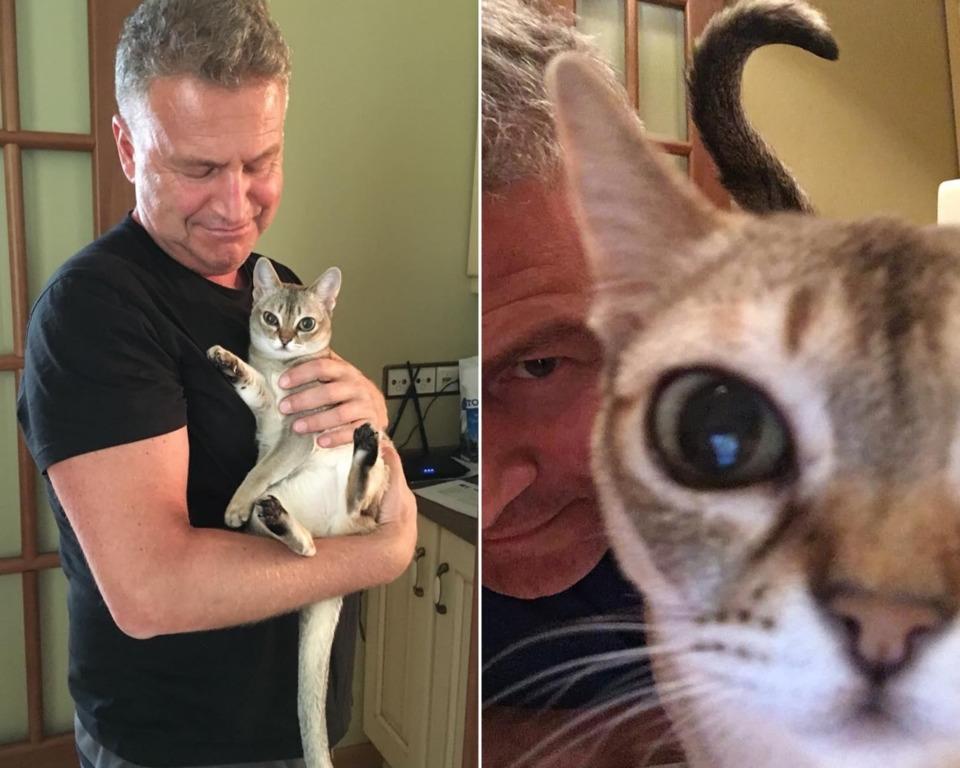 Леонид Агутин с котом