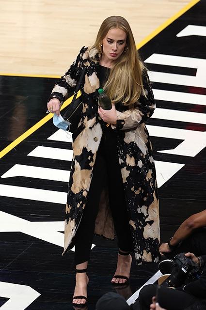 Редкое появление на публике: Адель была замечена на полуфинальном матче NBA (ФОТО) - фото №1