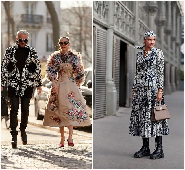 Стритстайл на Неделе высокой моды в Париже: как носить кутюр каждый день - фото №17
