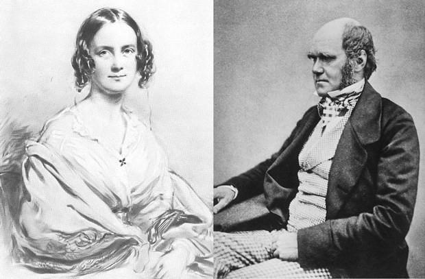 Дарвин с женой