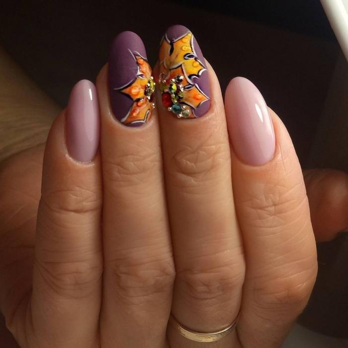 Маникюр с рисунками осенних листьев: лучшие варианты дизайна ногтей - фото №2