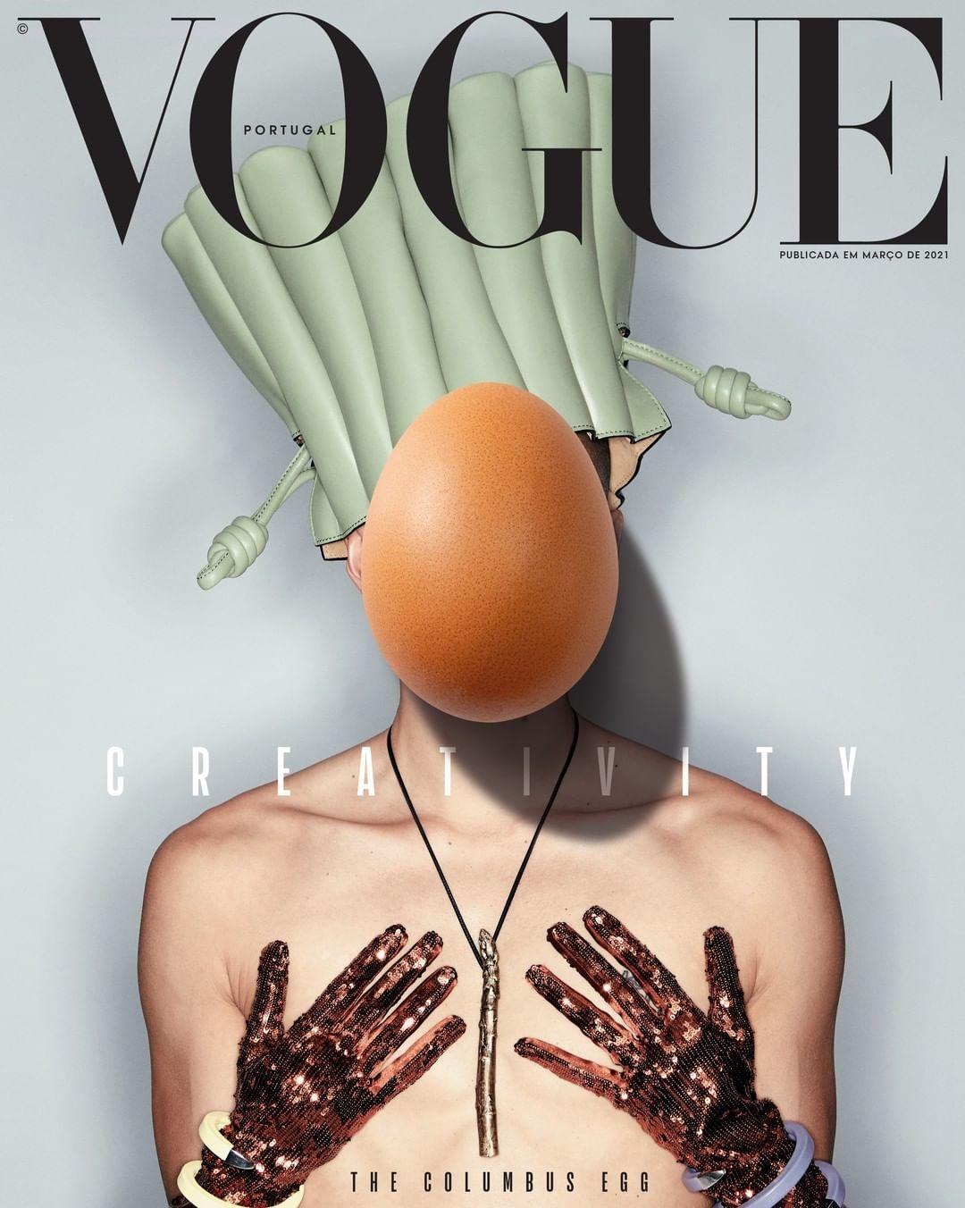 Новую обложку Vogue украсили яйца (ФОТО) - фото №1
