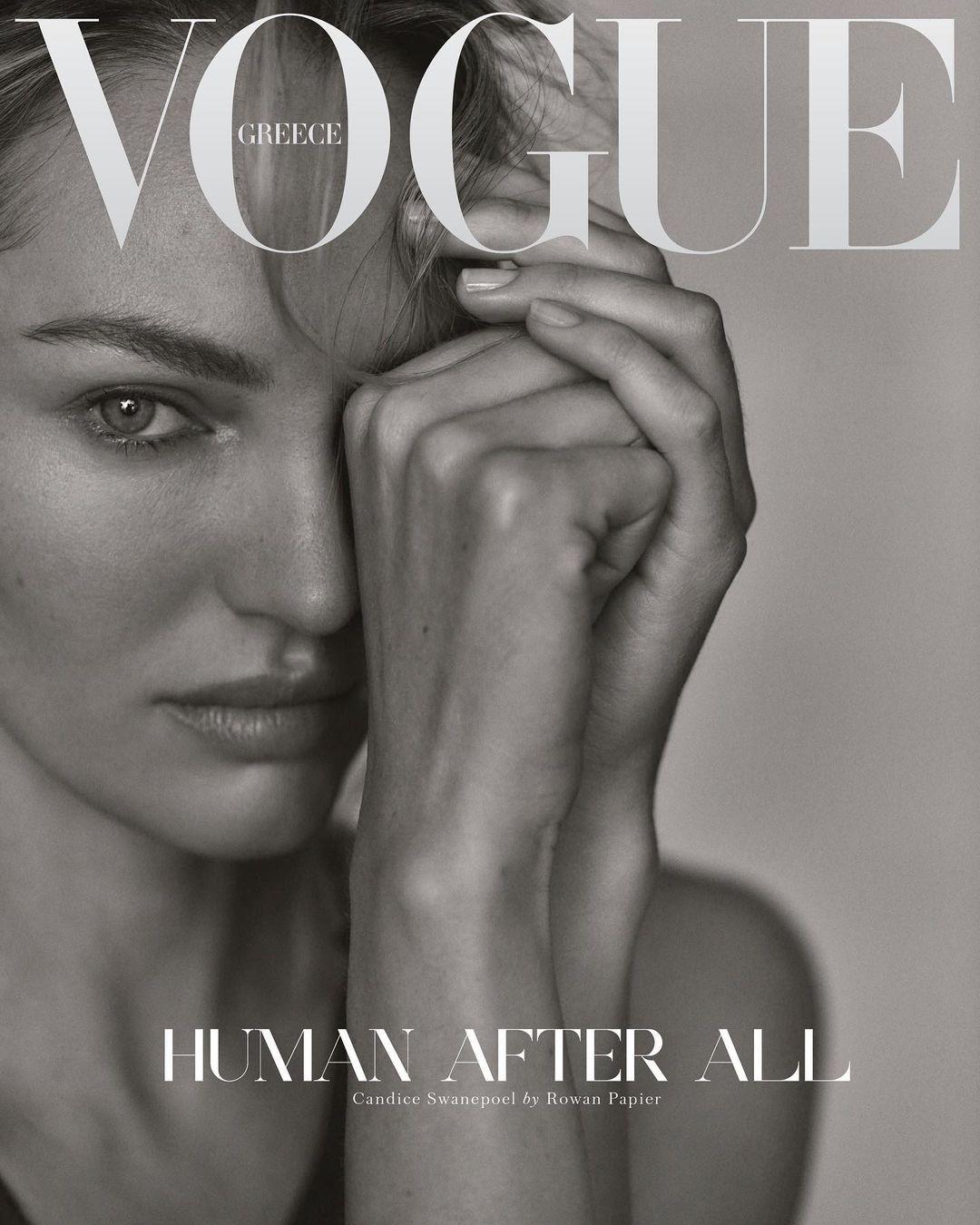 Чувственность и натуральность: Ирина Шейк, Кэндис Свейнпол и Джоан Смоллс на обложке Vogue Greece - фото №4