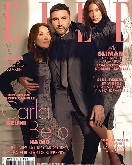 Sternentrio: Carla Bruni, Bella Hadidi und Ricardro Tichi schmückten das Cover des französischen Glanzfotos №1