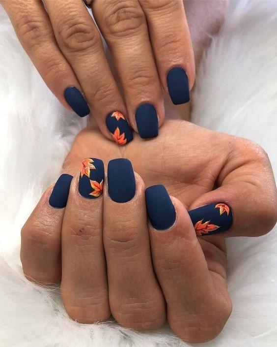 Маникюр с рисунками осенних листьев: лучшие варианты дизайна ногтей - фото №3