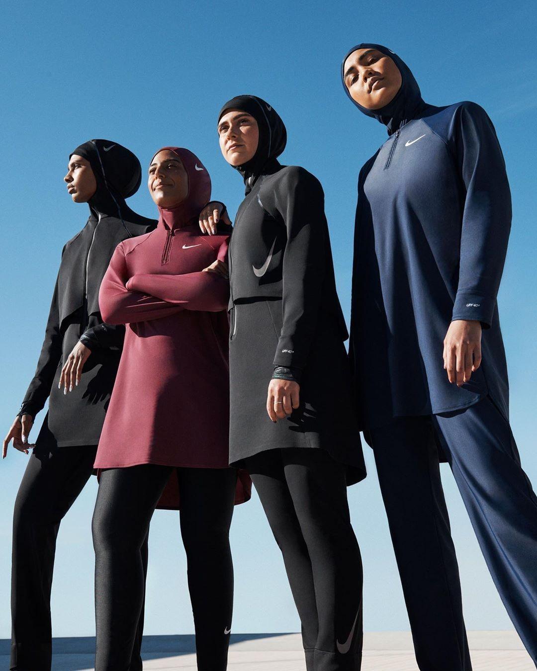 Для мусульманок: Nike выпускает коллекцию купальников-хиджабов, полностью покрывающих тело - фото №1