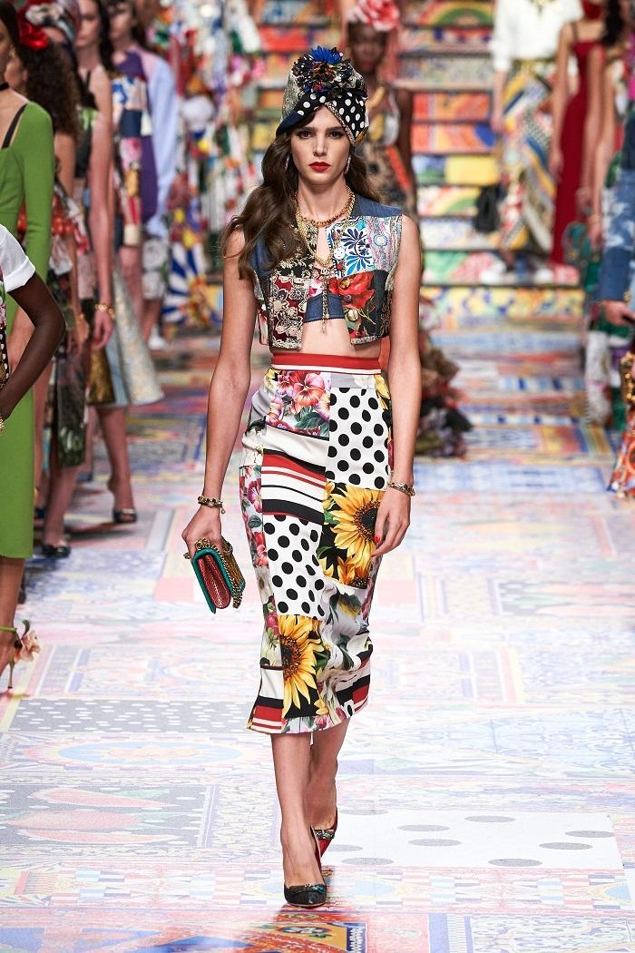 Неделя моды в Милане: Dolce & Gabbana выпустили коллекцию из остатков ткани (ФОТО) - фото №6