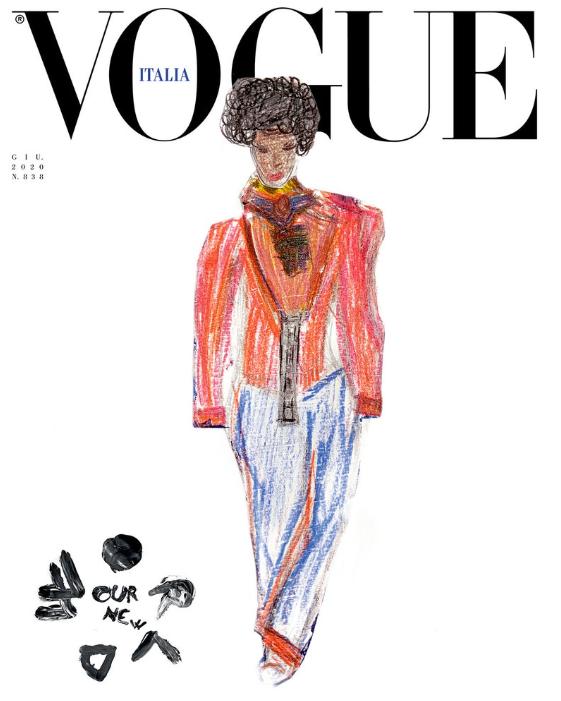 Обложка дня: итальянский Vogue поместил на обложку детские рисунки (ФОТО) - фото №2